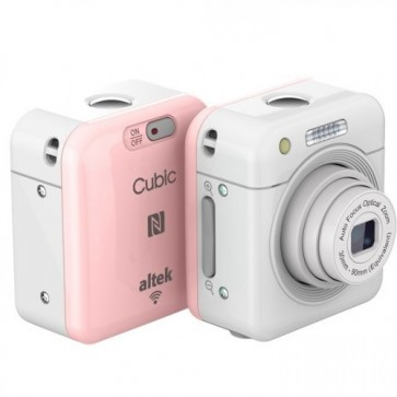 Altek Cubic Smart Mini Wireless Cube Camera (Pink)
