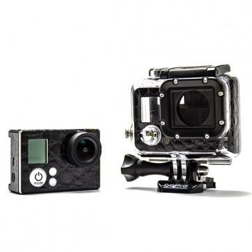 BazeSkin Black  Alligator Leather Full Body Skin for GoPro HERO3 / HERO3+