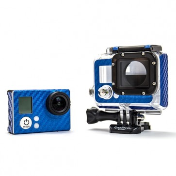 BazeSkin Carbon Fiber Blue Full Body Skin for GoPro HERO3 / HERO3+