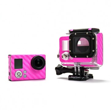 BazeSkin Carbon Fiber Pink Full Body Skin for GoPro HERO3 / HERO3+
