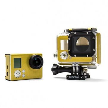 BazeSkin Metal Brushed Gold Full Body Skin for GoPro HERO3 / HERO3+
