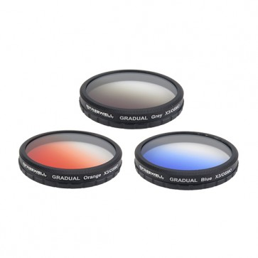 Freewell Gradual Orange/Blue/Grey Filter Set for DJI OSMO and Inspire 1 Zenmuse X3 Camera