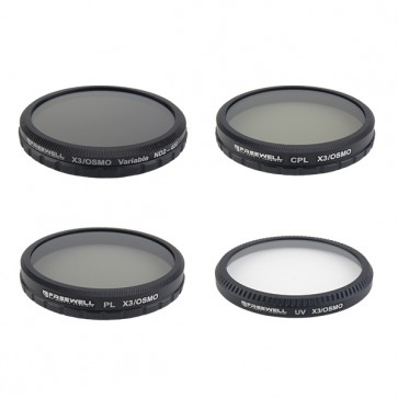 Freewell ND2-400/CPL/PL/UV Filter Set for DJI OSMO and Inspire 1 Zenmuse X3 Camera