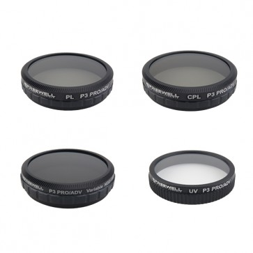 Freewell ND2-400/CPL/PL/UV Filter Set for DJI Phantom 3/4