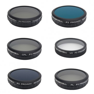 Freewell ND2-400/CPL/PL/UV/ND8-CPL/ND16-CPL Filter Set for DJI Phantom 3/4