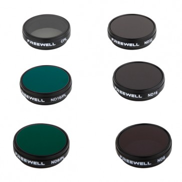 Freewell ND8/ND16/ND32/CPL/ND8-PL/ND16-PL Filter Set for GoPro HERO 4/3+/3