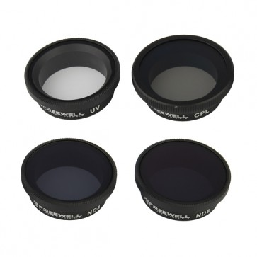 Freewell UV/ND4/ND8/CPL Filter Set for GoPro HERO 4/3+/3