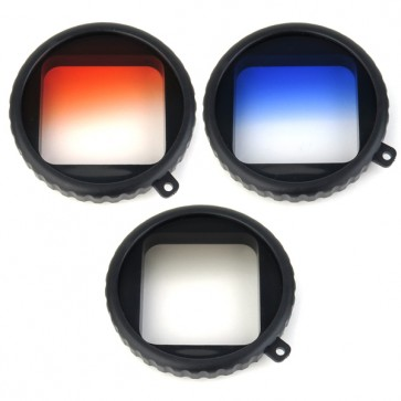Freewell Gradual Orange/Blue/Grey Filter Set for GoPro HERO 4/3+ Housing with Case