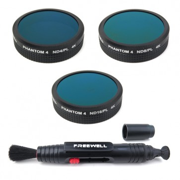 Freewell ND4-PL / ND8-PL / ND16-PL Filter Set for DJI Phantom 4