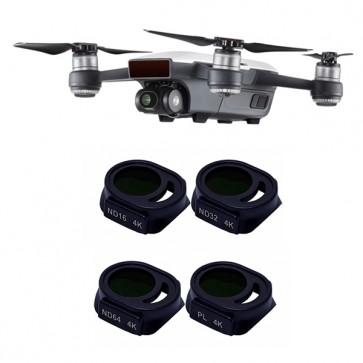 Freewell ND16/ND32/ND64/PL BRIGHT DAY 4-PACK 4K Filter Set for DJI SPARK