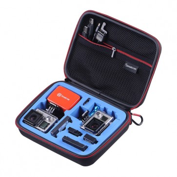 Smatree SmaCase G160S EVA Carrying and Travel Case for Action Cameras (BLACK/BLUE)