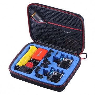 Smatree SmaCase G260S EVA Carrying and Travel Case for Action Cameras (BLUE)