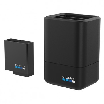GoPro Dual Battery Charger + Battery for HERO5 Black