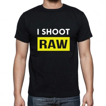 Cameralah I Shoot Raw Photography T-shirt