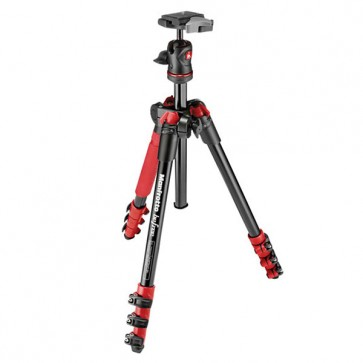 Manfrotto BeFree Compact Travel Aluminum Alloy Tripod (Red)
