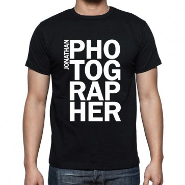 Cameralah Photographer Name-Your-Own Photography T-Shirt