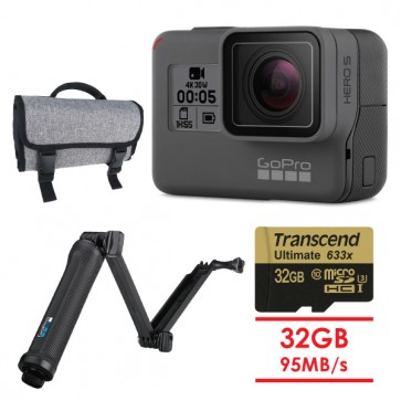 GoPro HERO5 Black 3-Way BUNDLE
