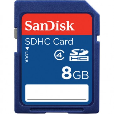 SanDisk 8GB SDHC Memory Card Class 4