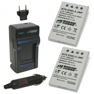 Wasabi Power Battery (2-Pack) and Charger Kit for Nikon EN-EL5