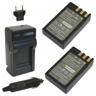Wasabi Power Battery (2-Pack) and Charger Kit for Nikon EN-EL9
