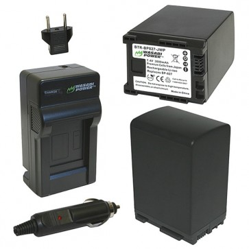 Wasabi Power Battery (2-Pack) and Charger Kit for Canon BP-827