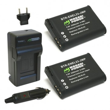 Wasabi Power Battery (2-Pack) and Charger Kit for Nikon EN-EL23