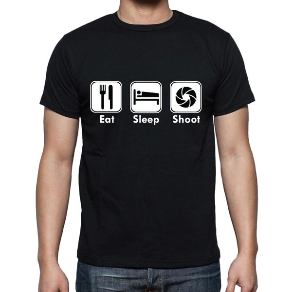 Cameralah Eat, Sleep, Shoot Photography T-Shirt