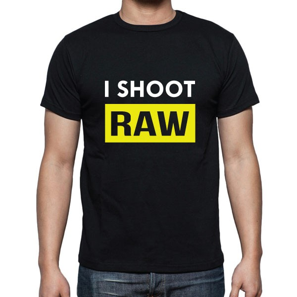 Cameralah I Shoot Raw Photography T-shirt