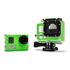 BazeSkin Carbon Fiber Green Full Body Skin for GoPro HERO3 / HERO3+