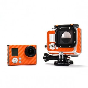 BazeSkin Carbon Fiber Orange Full Body Skin for GoPro HERO3 / HERO3+