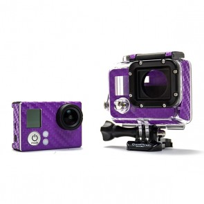 BazeSkin Carbon Fiber Purple Full Body Skin for GoPro HERO3 / HERO3+