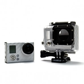 BazeSkin Carbon Fiber Silver Full Body Skin for GoPro HERO3 / HERO3+
