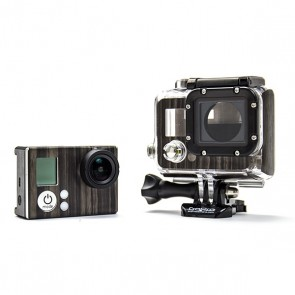 BazeSkin Gold Flake Wood Ebony Full Body Skin for GoPro HERO3 / HERO3+
