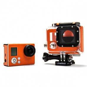 BazeSkin Orange Leather Full Body Skin for GoPro HERO3 / HERO3+