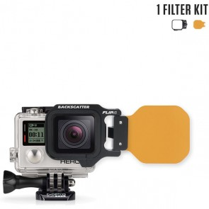 BackScatter FLIP4 Single Filter Kit with Dive Filter for GoPro HERO 4/3+/3