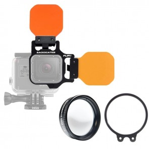 BackScatter FLIP5 PRO with Three Filter Kit & MacroMate Mini +15 Underwater Macro Lens for GoPro HERO 5/4/3+/3