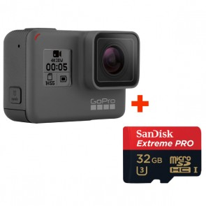 GoPro HERO5 Black + Sandisk 32GB Extreme PRO Micro SD Card (Original Malaysia GoPro Warranty)