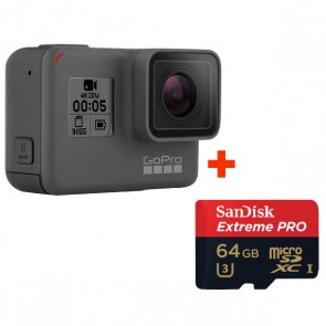 GoPro HERO 5 Black + Sandisk 64GB Extreme PRO Micro SD Card (Original Malaysia GoPro Warranty)