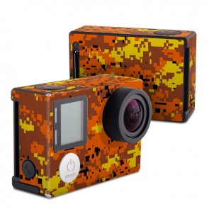 GoPro HERO4 Black Edition Skin - Digital Orange Camo