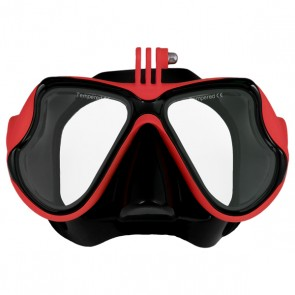 Freewell Diving Mask for Action Cameras (Red)