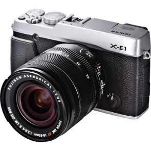 Fujifilm X-E1 16.3 MP Mirrorless Digital Camera Kit with XF 18-55mm f/2.8-4 OIS Lens (Silver)
