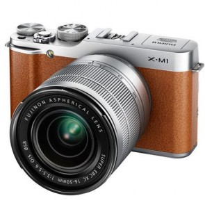 Fujifilm X-M1 Mirrorless Digital Camera Kit with XC 16-50mm F3.5-5.6 OIS Lens (Brown)