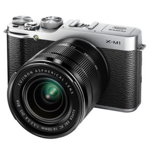 Fujifilm X-M1 Mirrorless Digital Camera Kit with XC 16-50mm F3.5-5.6 OIS Lens (Silver)