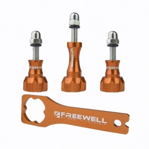 Freewell Aluminium Thumb Screw Set with Wrench (Brown)