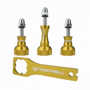 Freewell Aluminium Thumb Screw Set with Wrench (Gold)