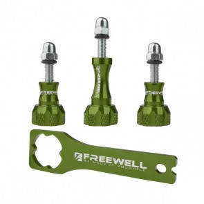 Freewell Aluminium Thumb Screw Set with Wrench (Green)