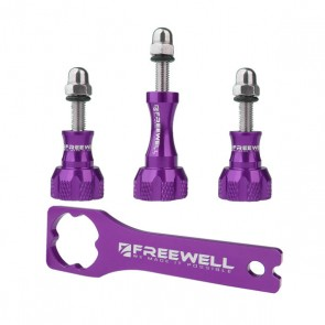 Freewell Aluminium Thumb Screw Set with Wrench (Purple)