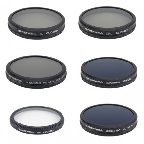 Freewell ND2-400/CPL/PL/UV/ND8-CPL/ND16-CPL Filter Set for DJI OSMO and Inspire 1 Zenmuse X3 Camera