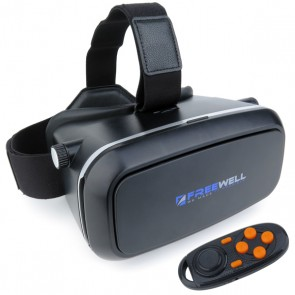 Freewell 3D VR GLASSES with Bluetooth Remote for iOS and Android