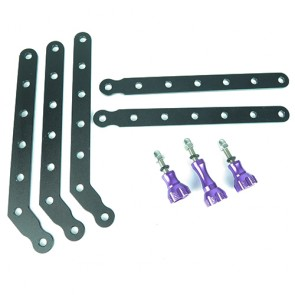 HIROGear Aluminum Extension Arms (Purple)